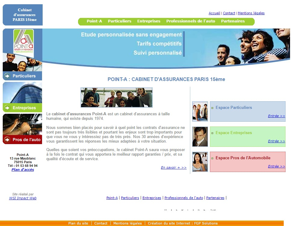 collaboration web point a cabinet d'assurances