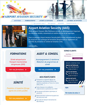 Airport security collaboration agence webmarketing